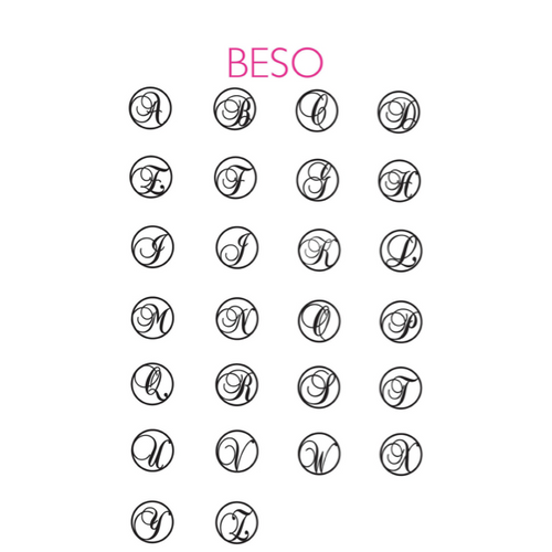 I found this at #moonandlola! - Beso Letter Font Sheet