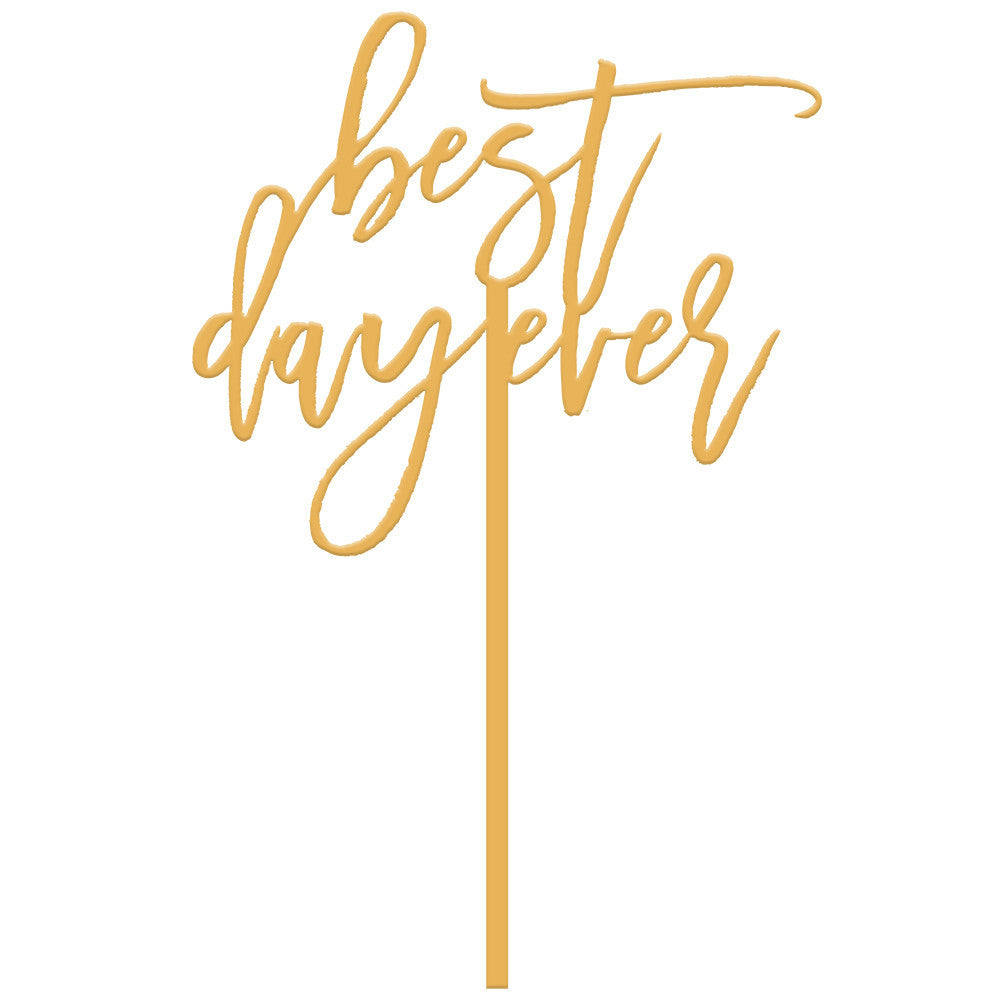 I found this at #moonandlola! - Best Day Ever Cake Topper in Antique Gold