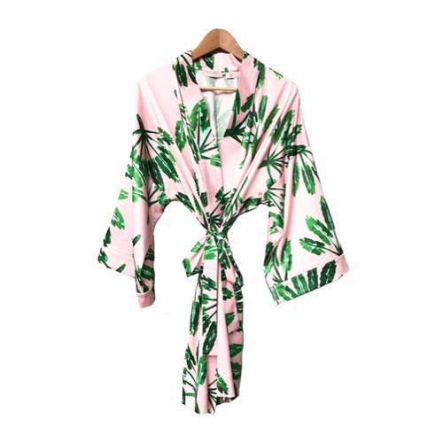 Moon and Lola loves the Blush Label Kimono Robe in Little Palms Print