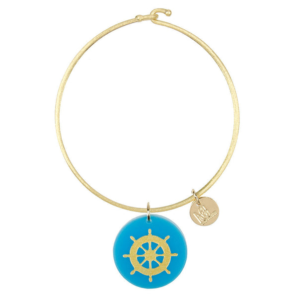 I found this at #moonandlola! - Eden Boat Wheel Charm Bangle