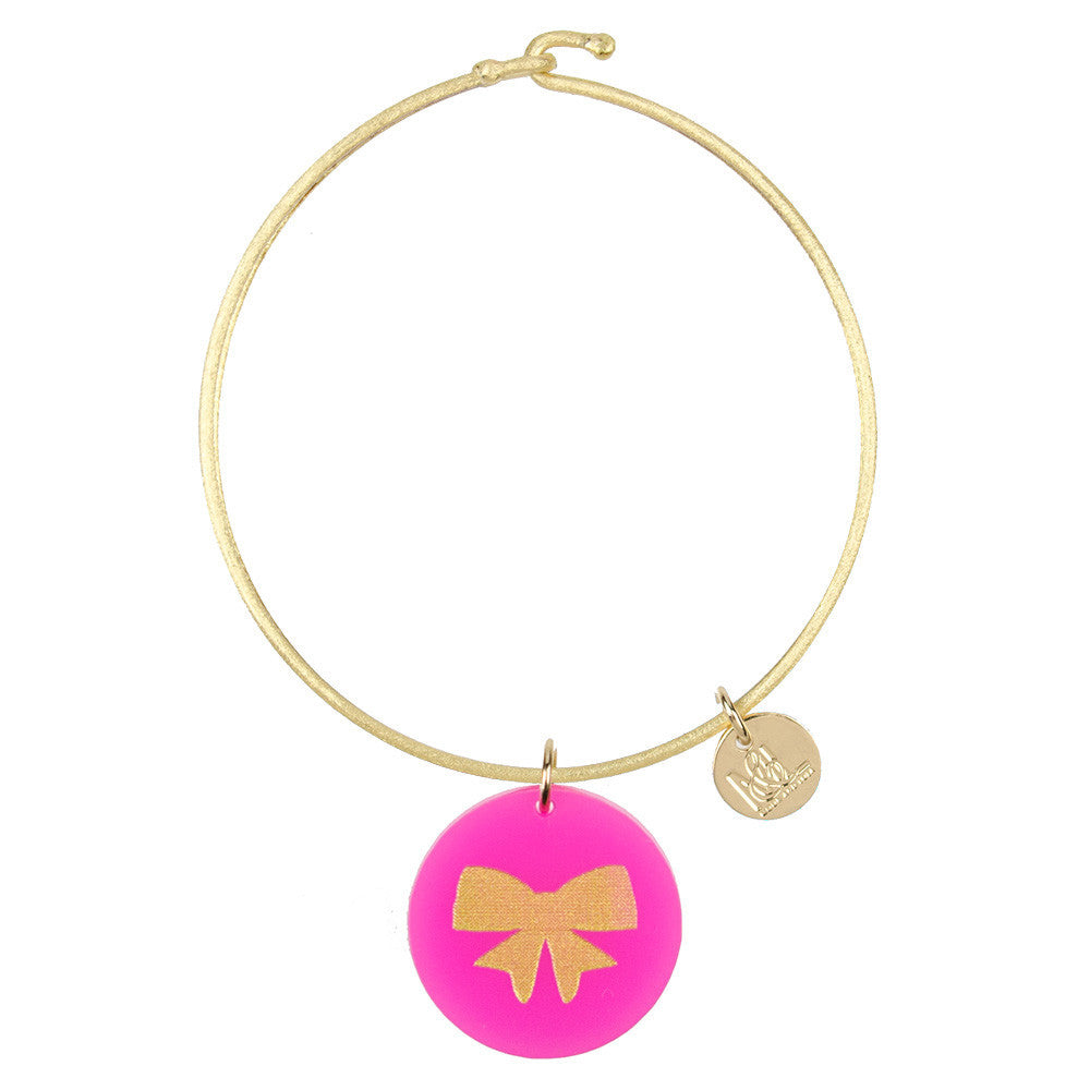 I found this at #moonandlola! - Eden Bow Charm Bangle