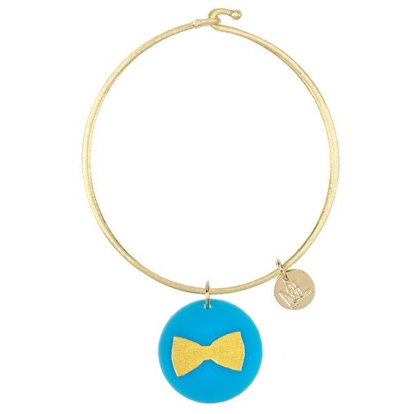 Moon and Lola - Eden Bow Tie Charm Bangle
