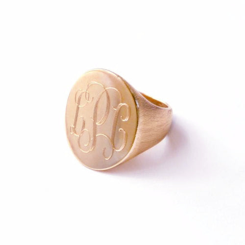 Fine Metal Boyfriend Signet Ring - I found this at #moonandlola!