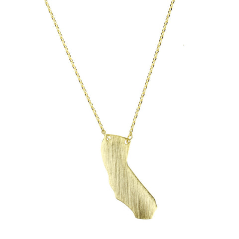 Moon and Lola - Brass California Necklace