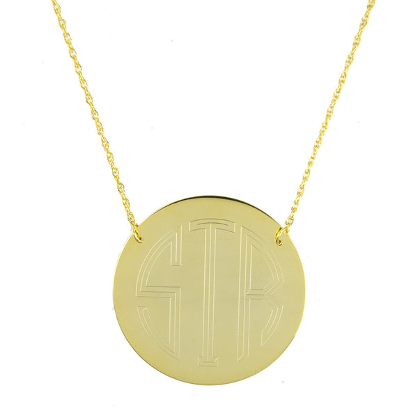 Moon and Lola - Bristol Brass Disc Necklace