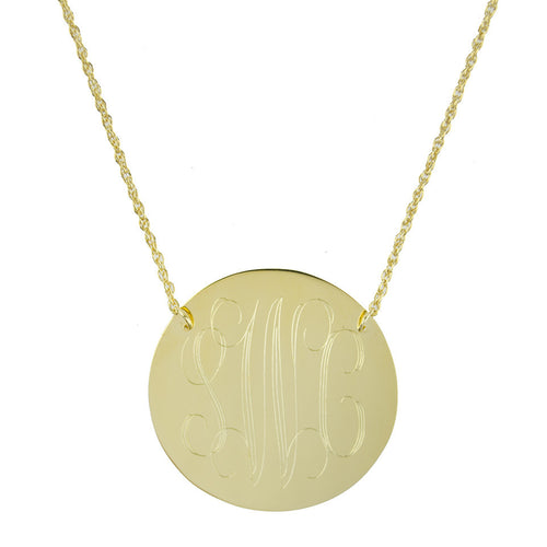 I found this at #moonandlola! - Bristol Brass Disc Necklace