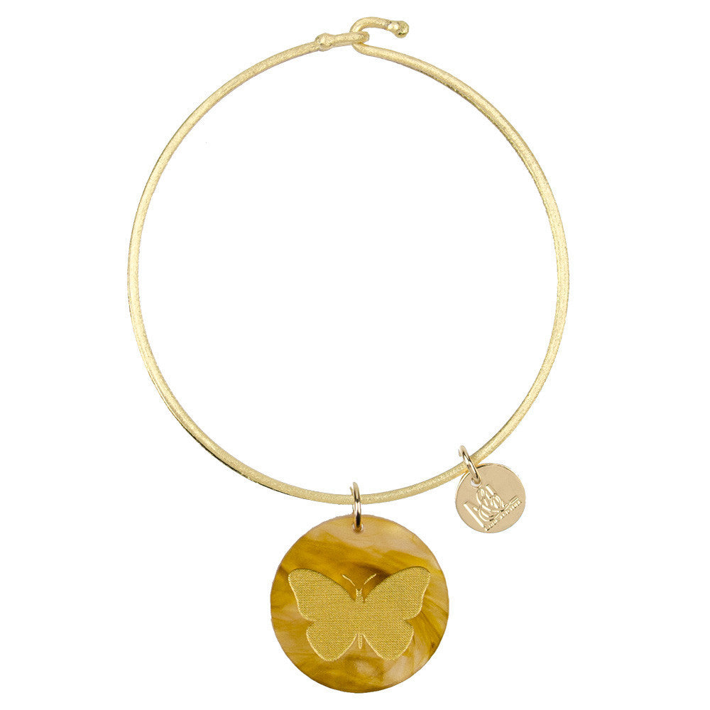 I found this at #moonandlola! - Eden Butterfly Charm Bangle