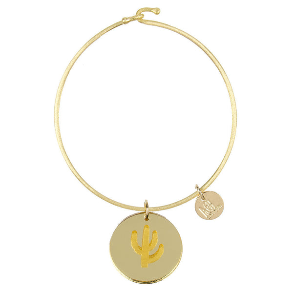I found this at #moonandlola! - Eden Cactus Charm Bangle