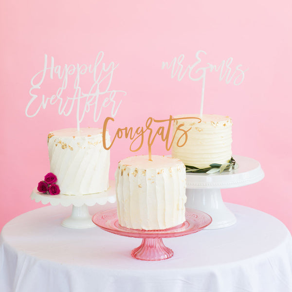 Moon and Lola - Congrats Cake Topper on Cake