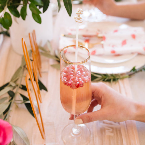 Moon and Lola - Let Loose Drink Stirrers Hot Pink
