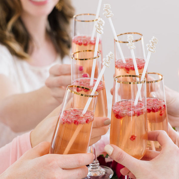 Moon and Lola - Cheers Drink Stirrers Styled
