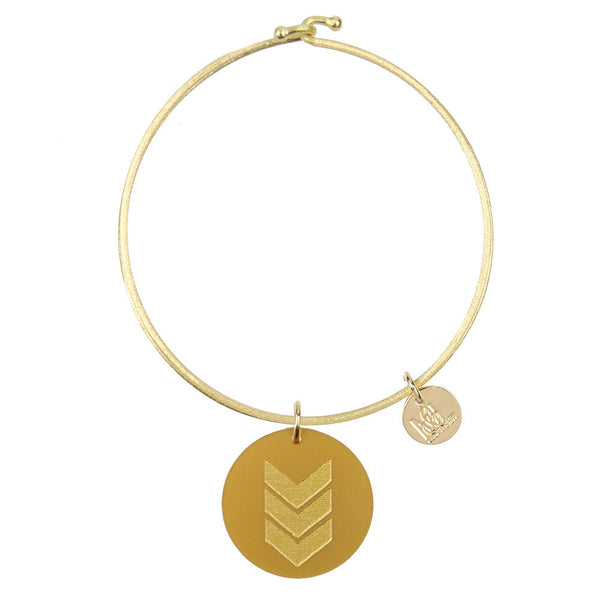 I found this at #moonandlola! - Eden Chevron Charm Bangle