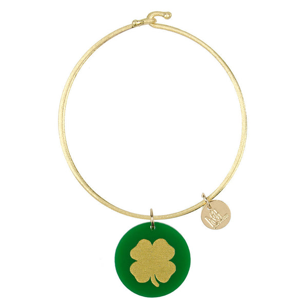 I found this at #moonandlola! - Eden Clover Charm Bangle