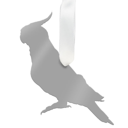 I found this at #moonandlola! - Cockatiel Ornament Mirrored Silver