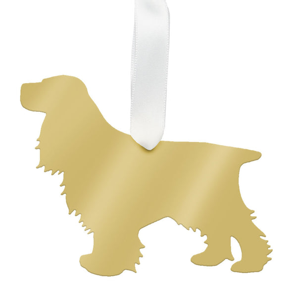 I found this at #moonandlola! - Cocker Spaniel Ornament Mirrored Gold