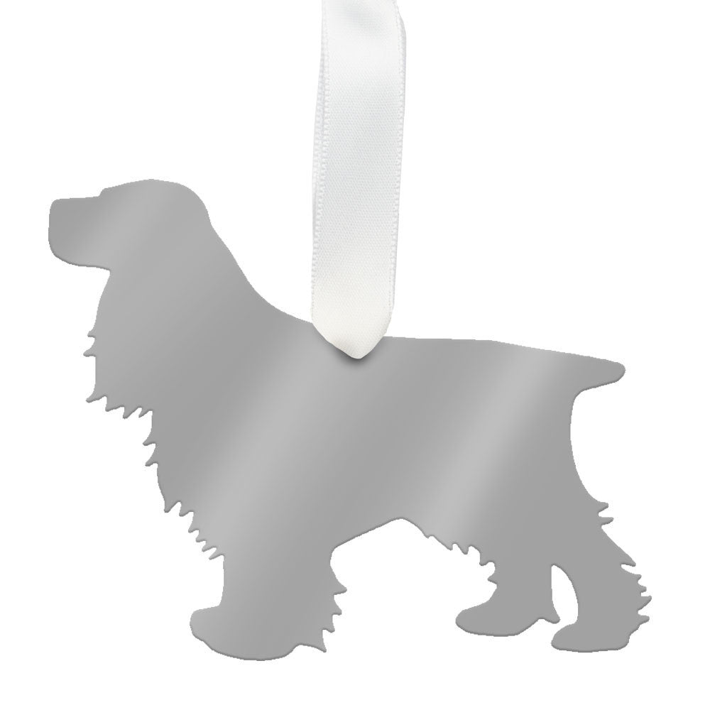 I found this at #moonandlola! - Cocker Spaniel Ornament Mirrored Silver
