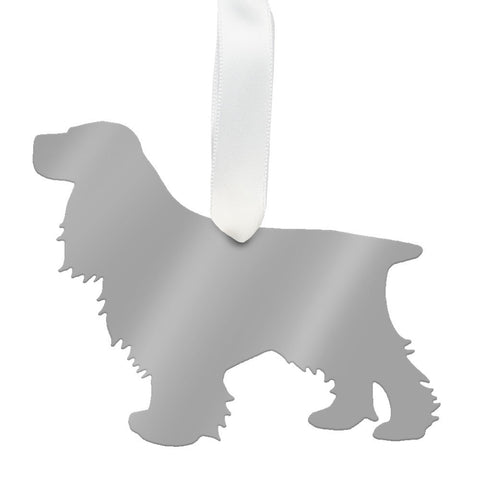 Moon and Lola - Cocker Spaniel Ornament Mirrored Gold