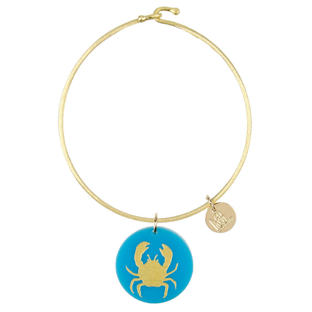 I found this at #moonandlola! - Eden Crab Charm Bangle