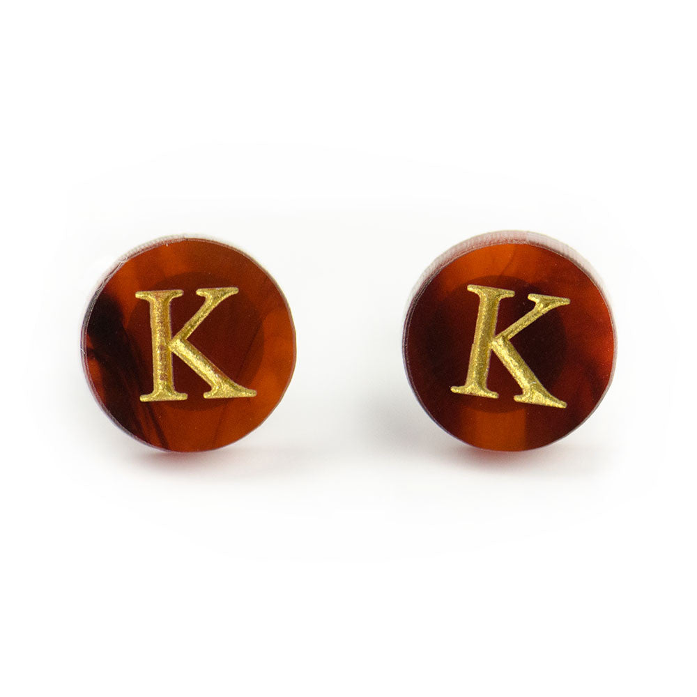 "I found this at #moonandlola! - Dalton Studs ""K"" in Tortoise"
