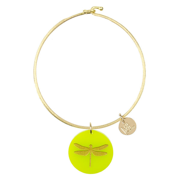 Moon and Lola - Eden Dragonfly Charm Bangle