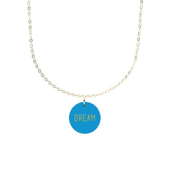 Moon and Lola Your Word Charm Necklace