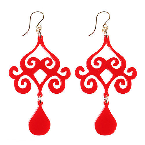 I found this at #moonandlola! - Acrylic Dubai Earrings Ruby