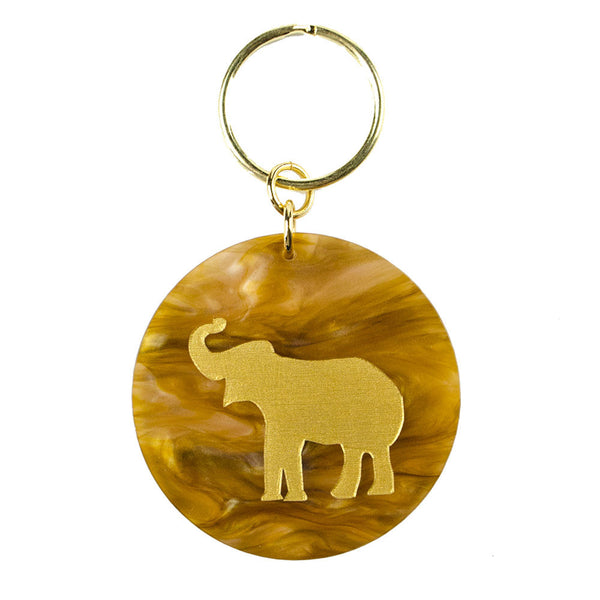 Moon and Lola - Eden Key Chain Tiger's Eye Elephant
