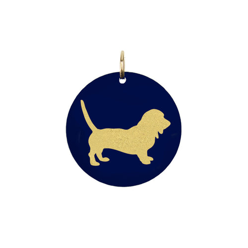 I found this at #moonandlola! - Basset Hound Charm