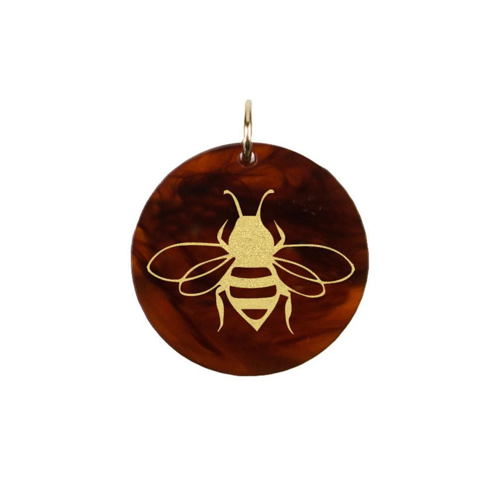 Moon and Lola - Acrylic Eden Charm bumble bee bae charm on tortoise shell acrylic