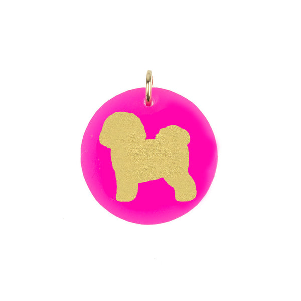 I found this at #moonandlola! - Bichon Frise Charm