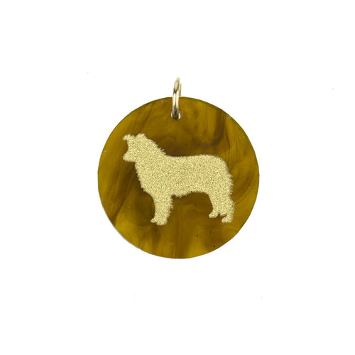 I found this at #moonandlola! - Eden Border Collie Charm Tiger's Eye