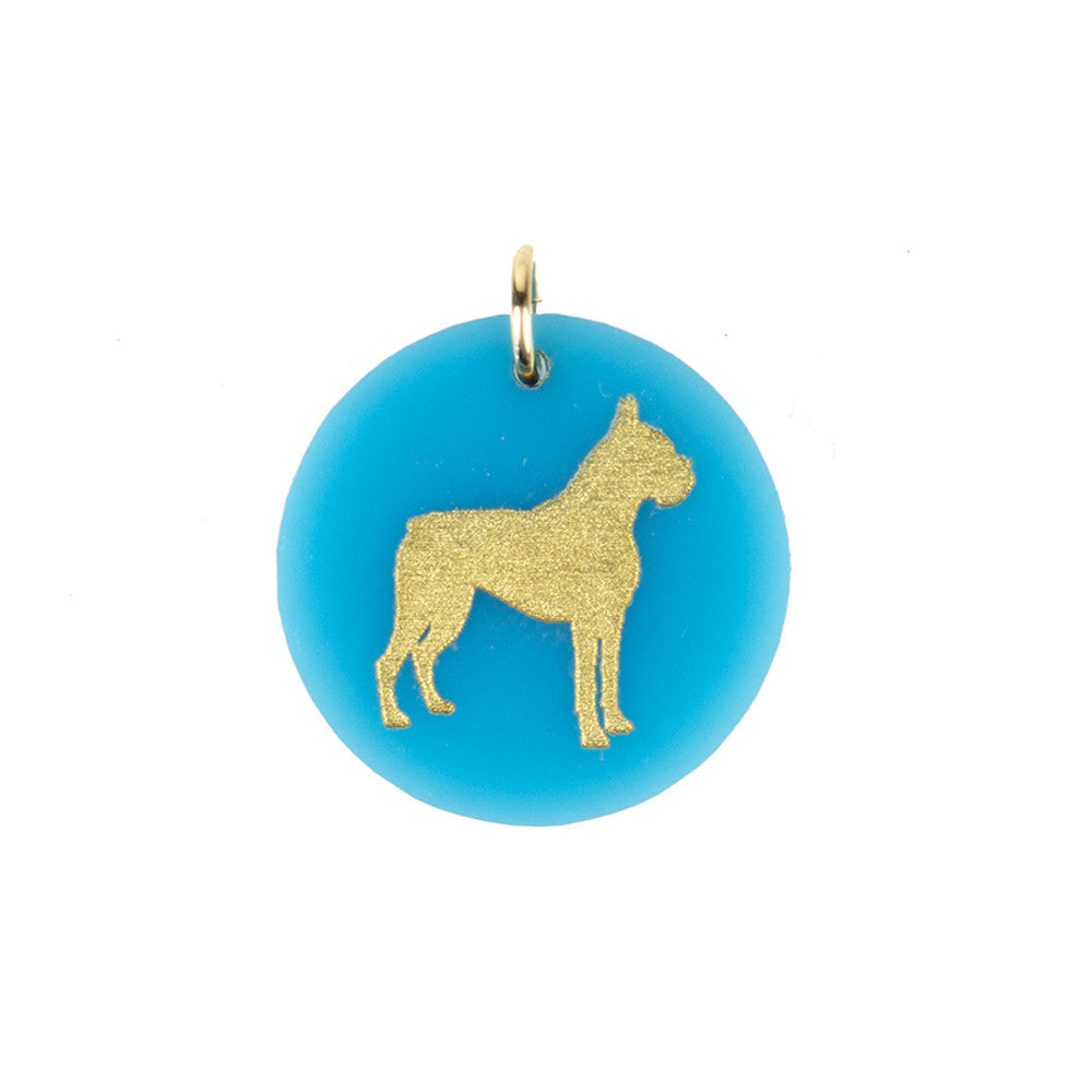 I found this at #moonandlola! - Eden Boxer Charm in Turquoise and Gold