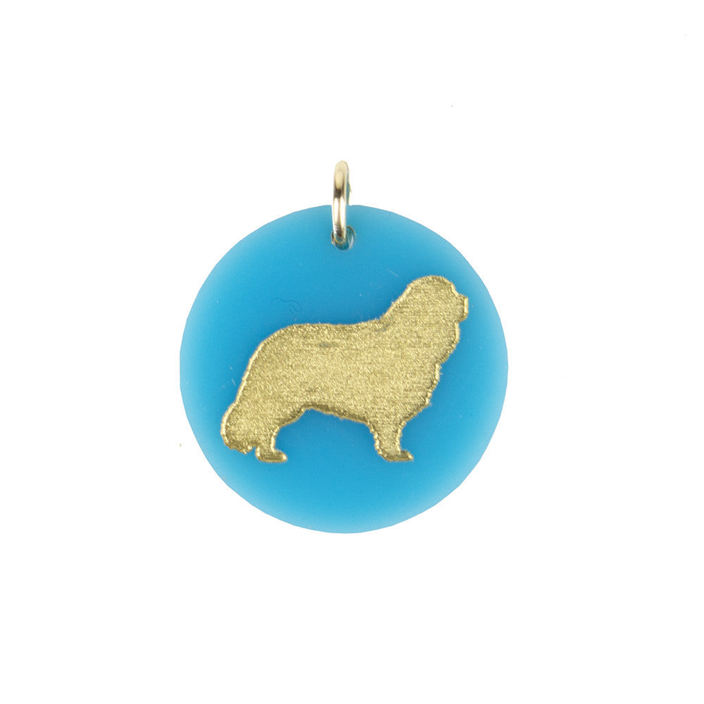 I found this at #moonandlola! - Cavalier King Charles Spaniel Charm Turquoise