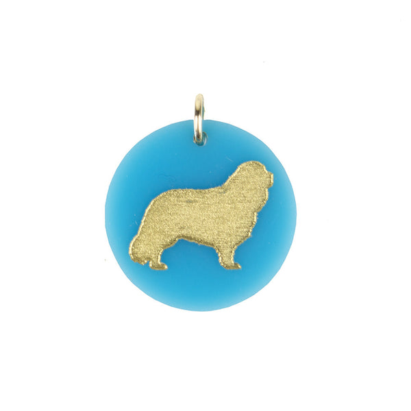 Moon and Lola - Cavalier King Charles Spaniel Charm Turquoise