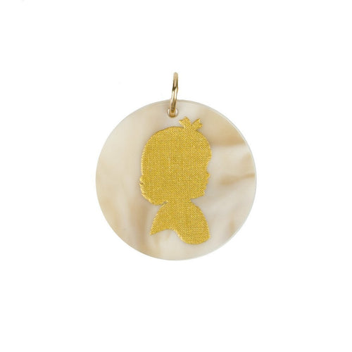 Moon and Lola - Acrylic Eden Charm young girl silhouette in blonde tortoise
