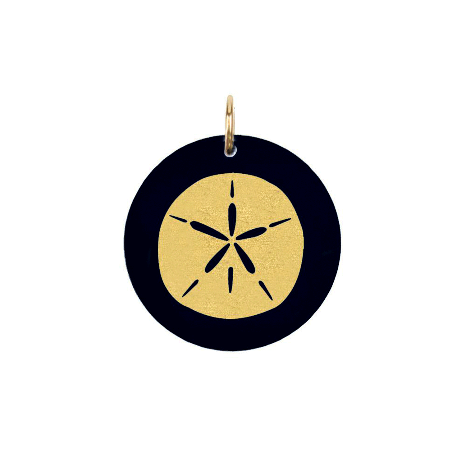Moon and Lola - Acrylic Eden Charm sand dollar charm on ebony black acrylic