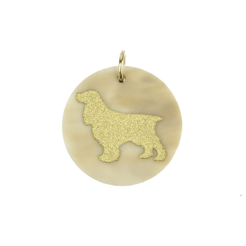 I found this at #moonandlola! - Eden Cocker Spaniel Charm Blonde Tortoise