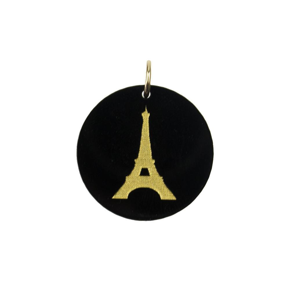 Moon and Lola - Acrylic Eden Charm eiffel tower charm on ebony black acrylic