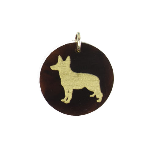 I found this at #moonandlola! - Eden German Shepherd Charm Tortoise