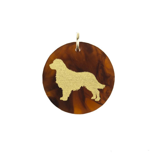 Moon and Lola Golden Retriever Pet Charm