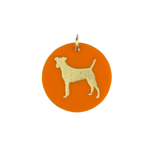 Moon and Lola - Eden Jack Russell Terrier Charm Tangerine