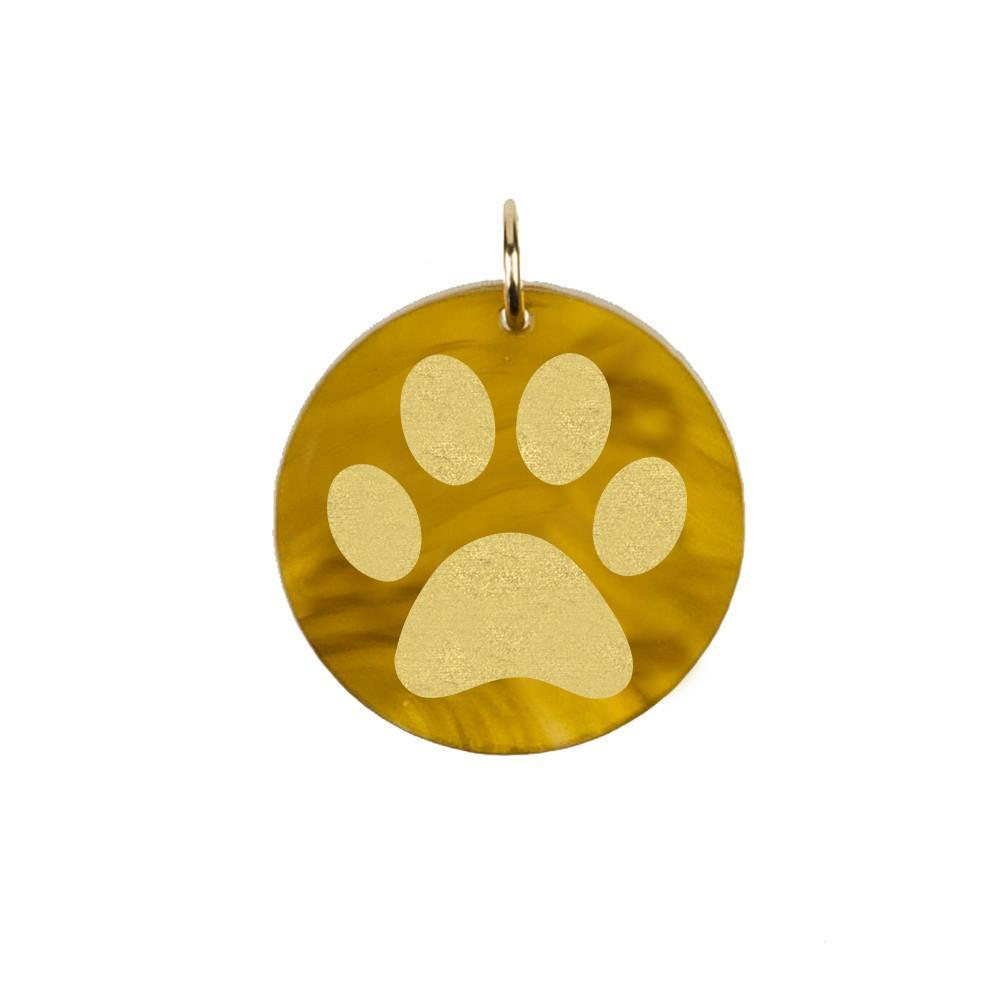 Moon and Lola - Acrylic Eden Charm paw print in tiger's eye