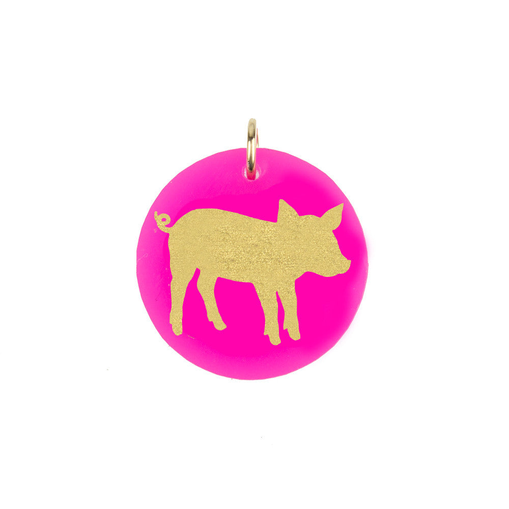 I found this at #moonandlola! - Pig Charm