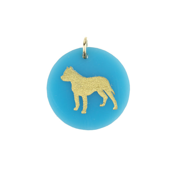 I found this at #moonandlola! - Eden Pitbull Charm Turquoise