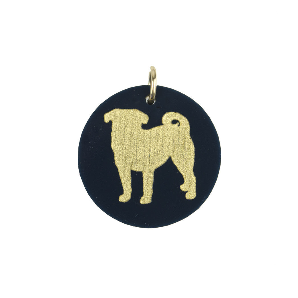 I found this at #moonandlola! - Eden Pug Charm Ebony