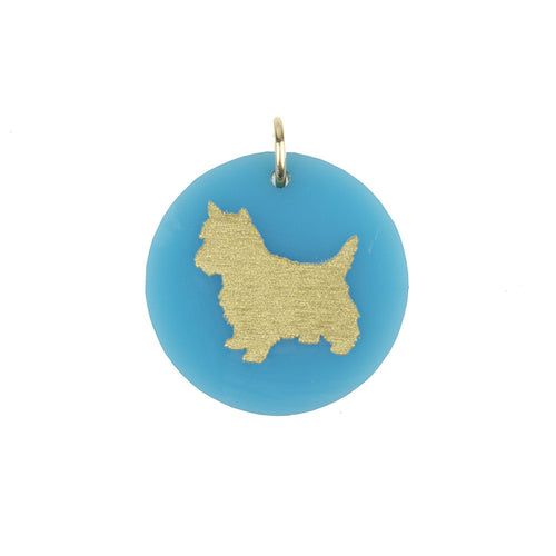 I found this at #moonandlola! - Eden West Highland White Terrier Charm Turquoise