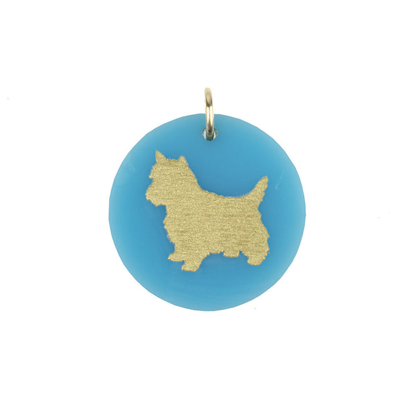 Moon and Lola - Eden West Highland White Terrier Charm Turquoise