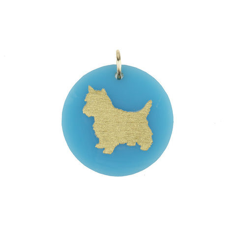 ML xx TP Blue Dog Symbol Charm