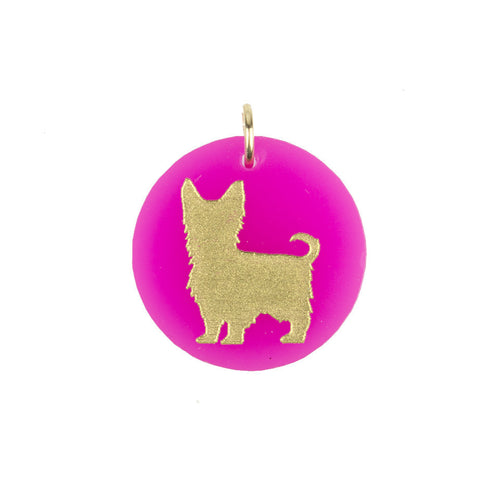 I found this at #moonandlola! - Eden Yorkshire Terrier Charm Hot Pink