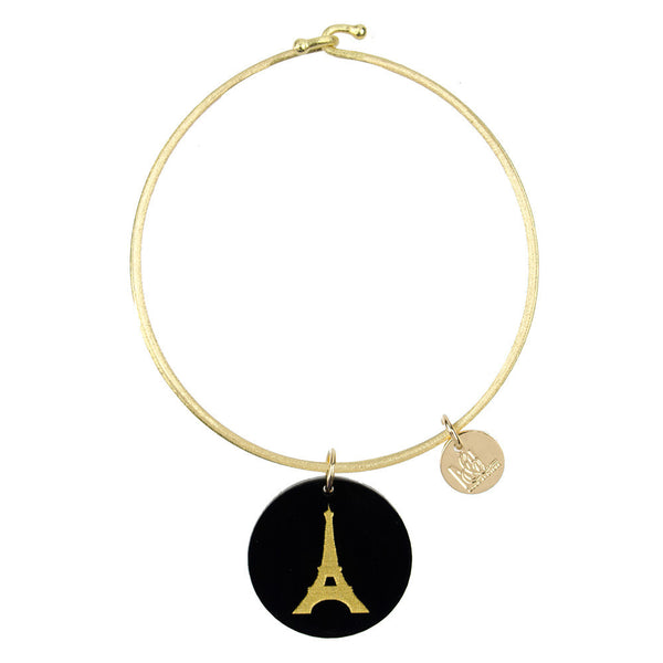 Moon and Lola - Eden Eiffel Tower Charm Bangle